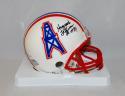 Haywood Jeffires Autographed Houston Oilers Mini Helmet- JSA Witnessed Auth