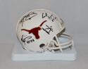 Campbell Williams McCoy Young Signed Texas Longhorns Mini Helmet- JSA W Auth