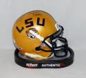 Brad Wing Signed LSU Tigers Schutt Gold Mini Helmet W/ Geaux Tigers- JSA W Auth