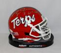 Boomer Esiason Signed Maryland Terrapins Mini Helmet W/ Go Terps- JSA W Auth