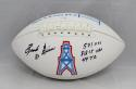 Ernest Givins Autographed Houston Oilers Logo Football with Stats- JSA W Auth
