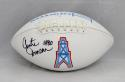 Curtis Duncan Autographed Houston Oilers Logo Football- JSA Witnessed Auth