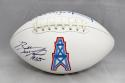 Bubba McDowell Autographed Houston Oilers Logo Football- JSA Witnessed Auth