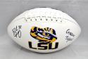 Brad Wing Autographed LSU Tigers Logo Football W/ Geaux Tigers- JSA W Auth