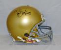 Tim Brown Autographed Notre Dame F/S ProLine Helmet W/ Heisman- JSA W Auth