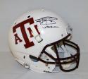 Johnny Manziel Heisman Autographed Texas A&M Aggies White F/S Helmet- JSA W Auth