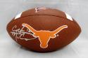 Colt McCoy Autographed Texas Longhorns Wilson Logo Football- JSA Witnessed Auth