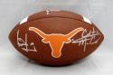 Vince Young Colt McCoy Signed Texas Longhorns Wilson Logo Football- JSA W Auth