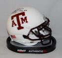 Johnny Manziel Autographed Texas A&M Aggies White Mini Helmet W/ HT- JSA W Auth