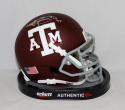Johnny Manziel Signed Texas A&M Aggies Maroon Mini Helmet W/ HT- JSA W Auth