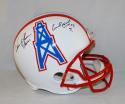 Warren Moon Earl Campbell HOF Signed Houston Oilers White F/S Helmet- JSA W Auth