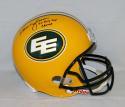 Warren Moon Signed Edmonton Eskimos F/S Helmet W/ 5X Grey Cup Champ- JSA W Auth