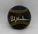 Rickey Henderson Autographed Rawlings OML Black Baseball- JSA Witnessed Auth