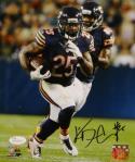 Ka'Deem Carey Signed *Blk Chicago Bears 8x10 Running W/ Ball Photo- JSA W Auth