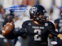 Johnny Manziel Autographed Texas A&M 8x10 Close Up Photo W/ HT- JSA W Auth
