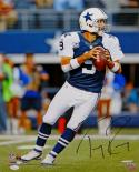 Tony Romo Autographed Dallas Cowboys 16x20 Passing In Blue P.F.Photo- JSA W Auth