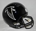 Deion Sanders Autographed *Silver Atlanta Falcons Full Size Helmet- JSA W Auth