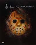 Ari Lehman Jason Voorhees Signed 16x20 Friday The 13th Mask Photo- PSA/DNA Auth