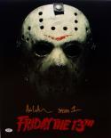 Ari Lehman Jason 1 Signed 16x20 Friday The 13th Jason Mask Photo- PSA/DNA Auth