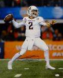Johnny Manziel Autographed 16x20 Passing In Cotton Bowl Photo W/ HT- JSA W Auth