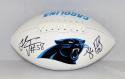 Luke Kuechly Thomas Davis Autographed Carolina Panthers Logo Football-JSA W Auth