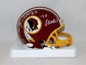 Ricky Sanders Signed Washington Redskins Mini Helmet W/ 70 Greatest- JSA W Auth