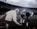 Joe Montana Autographed *Blue 49ers 16x20 Kneeling With Walsh Photo- Tristar Auth