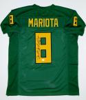 Marcus Mariota Autographed Green College Style Jersey with JSA Witnessed Auth