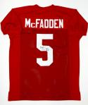 Darren McFadden Autographed Red Collge Style Jersey- JSA Witnessed Auth