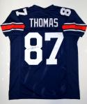 Frank Thomas Autographed Navy Blue College Style Jersey- JSA Witnessed Auth
