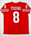 Steve Young Autographed Red Pro Style Jersey- JSA Witnessed Auth