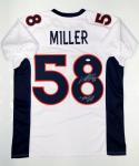 Von Miller Autographed White Pro Style Jersey W/ SB 50 MVP- JSA Witnessed Auth