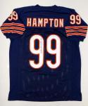 Dan Hampton Autographed Blue Pro Style Jersey- JSA Witnessed Auth