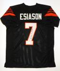 Boomer Esiason Autographed Black Pro Style Jersey With MVP- JSA Witnessed Auth