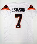 Boomer Esiason Autographed White Pro Style Jersey With MVP- JSA Witnessed Auth