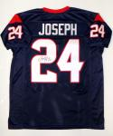 Johnathan Joseph Autographed Blue Pro Style Jersey- TriStar Authenticated