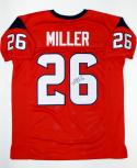 Lamar Miller Autographed Red Pro Style Jersey- JSA Witnessed Authenticated