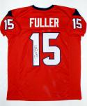 Will Fuller Autographed Red Pro Style Jersey- JSA Witnessed Authenticated *1