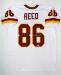 Jordan Reed Autographed White Pro Style Jersey- JSA Witnessed Authenticated