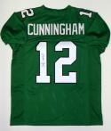Randall Cunningham Autographed Green Pro Style Jersey- JSA Witnessed Auth