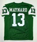 Don Maynard Autographed Green Pro Style Jersey With HOF- JSA Witnessed Auth