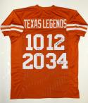 Texas Legends Autographed Orange College Style Jersey- JSA Witnessed Auth