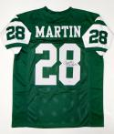 Curtis Martin Autographed Green Pro Style Jersey- PSA/DNA Authenticated