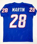 Curtis Martin Autographed Blue Pro Style Jersey- PSA/DNA Authenticated