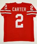 Cris Carter Autographed Red College Style Jersey- JSA Witnessed Authenticated