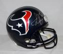 Jadeveon Clowney Autographed Houston Texans Full Size Helmet- JSA Witnessed Auth (Front)
