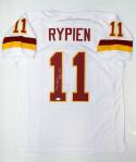 Mark Rypien Autographed White Pro Style Jersey With MVP- JSA Witnessed Auth