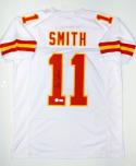 Alex Smith Autographed White Pro Style Jersey- JSA Witnessed Authenticated