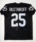 Fred Biletnikoff Autographed White Pro Style Jersey With HOF- JSA Witnessed Auth