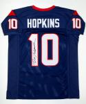 DeAndre Hopkins Autographed Blue Pro Style Jersey- JSA Witnessed Authenticated